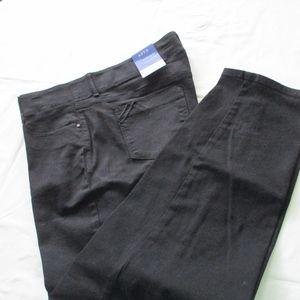 NWT - Apt. 9 black Straight pants - sz 16WS - $48.